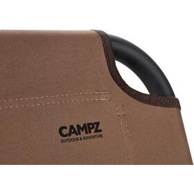 CAMPZ Silla Plegable Aluminio Individual, marrón/negro